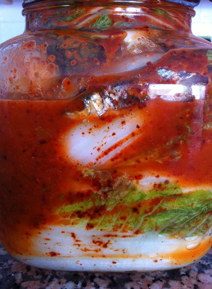 Kimchi canario con pejines de la graciosa y pimienta de la palma
